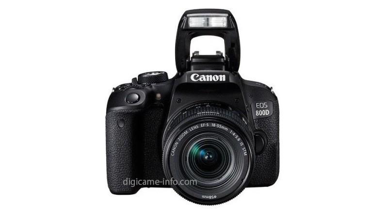 Canon EOS 800D 機身正面(圖片來源:翻攝自 DigiCame Info)