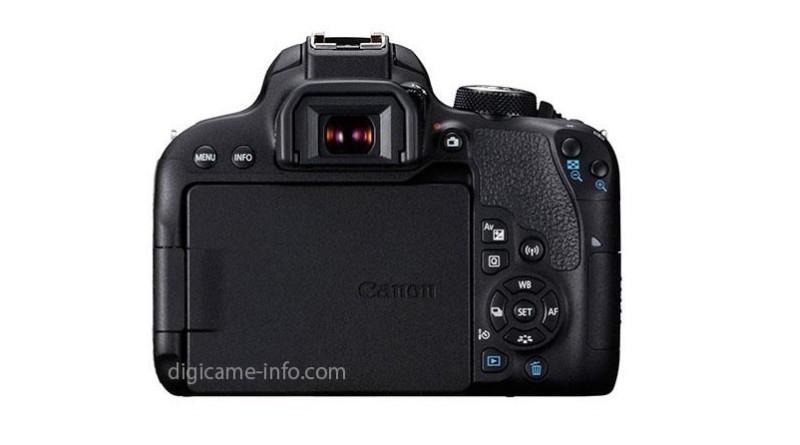Canon EOS 800D 機身背面設有 Wi-Fi 專用按鍵和典型的十字按鍵