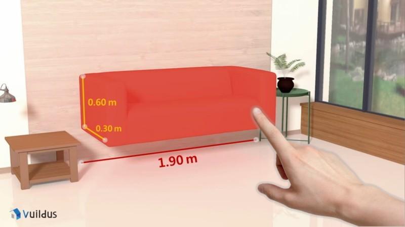 VuildUs 適用於家居布置設計,可自動計算家居空間面積和家具尺寸。