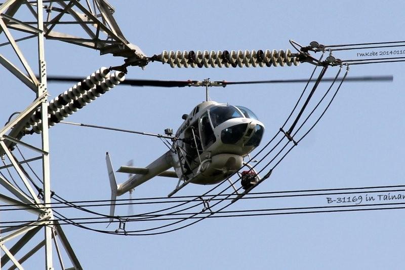 台電曾有直升機清掃電塔礙子時,發生墜毀意外。