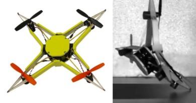 世上最耐撞無人機!瑞士科學家研發柔性飛行器 機臂變軟吸震化勁