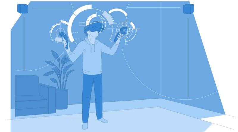 LG VR 眼鏡採用 Valve 開發的 SteamVR 動態追蹤技術,HTC Vive 也使用同樣技術。