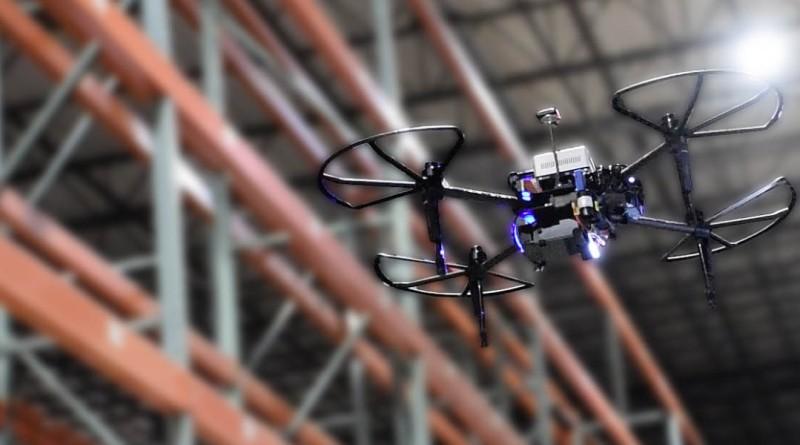氫動力四軸機 PINC Air 飛入倉庫作業