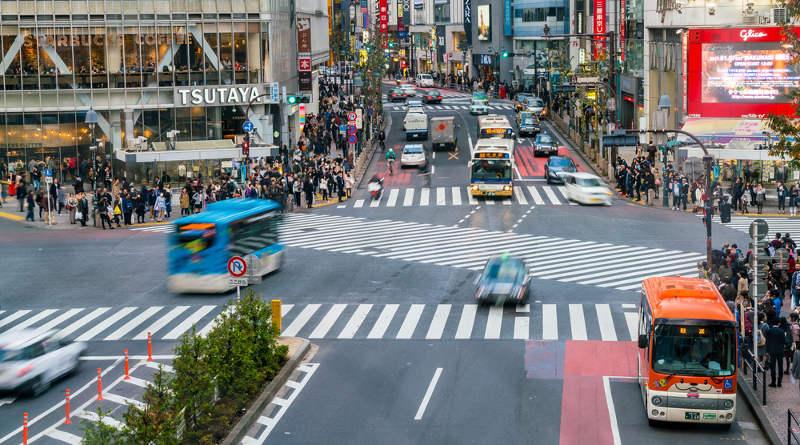 日本澀谷十字街頭
