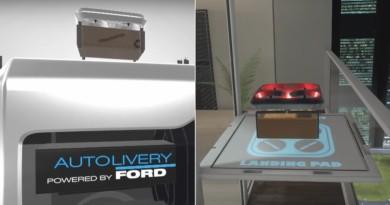 Ford 自動化送貨方案 Autolivery 無人機導航自動車•宅配到陽台