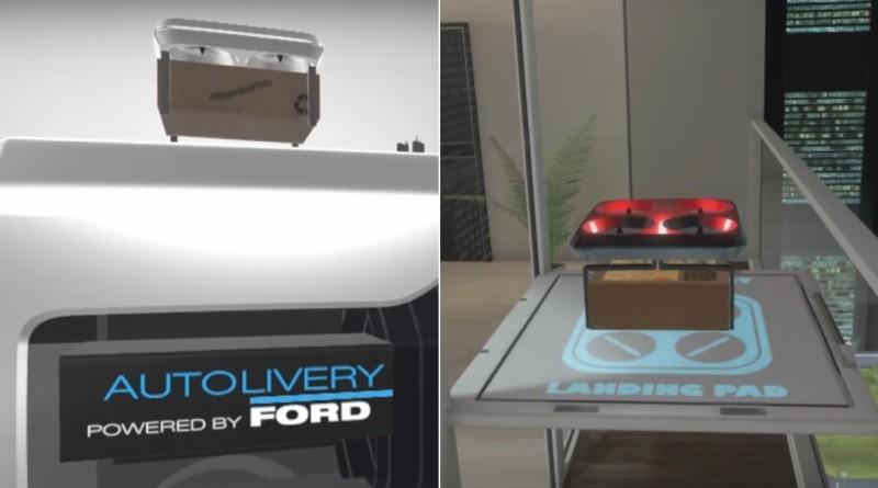 Ford 自動化送貨方案 Autolivery 無人機宅配到陽台