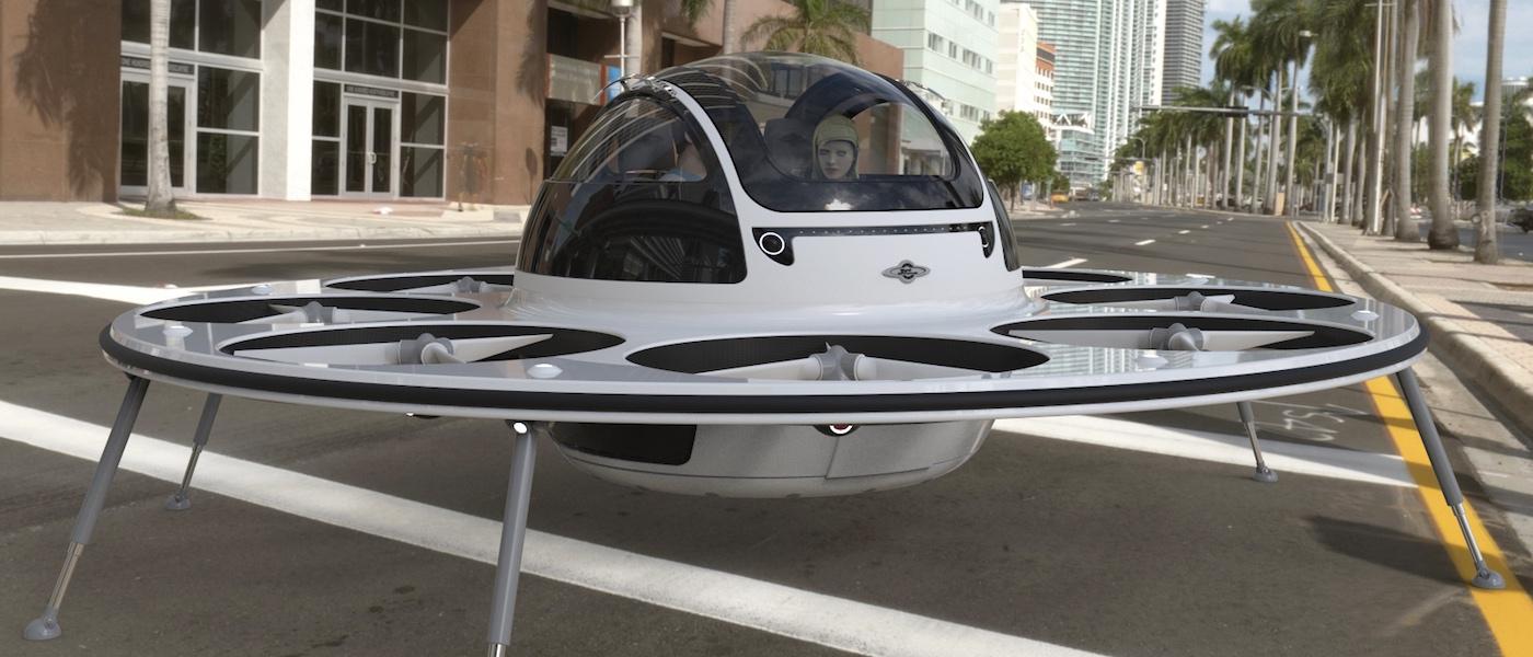 真的不是 UFO 飛碟!意大利載人飛行器 IFO 展示型格交通概念