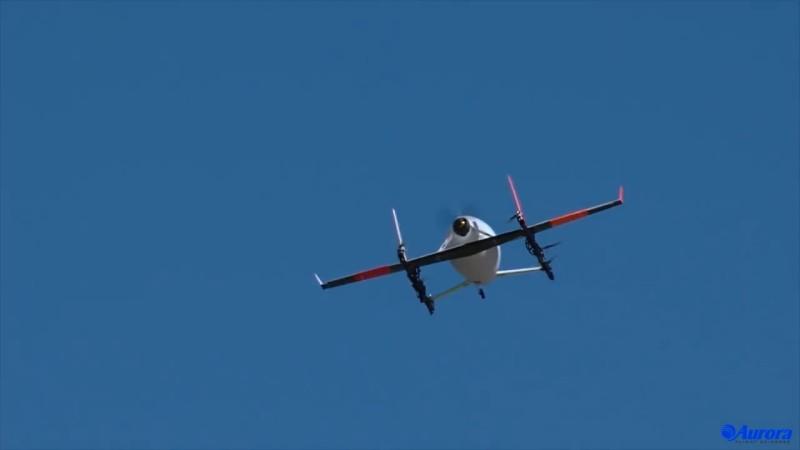 Aurora Flight Sciences Electric VTOL Aircraft 20170420 試飛