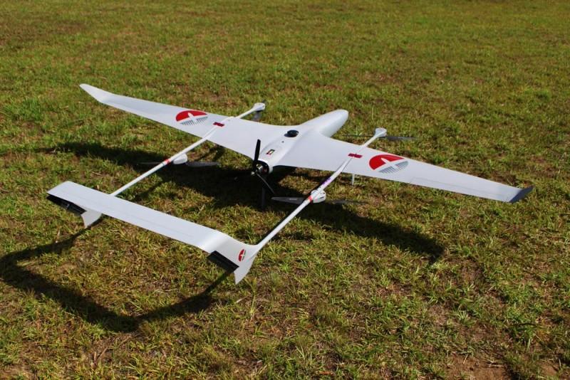 Volanti 無人機機身由碳纖複合材質製作而成,重量僅得 4 公斤。