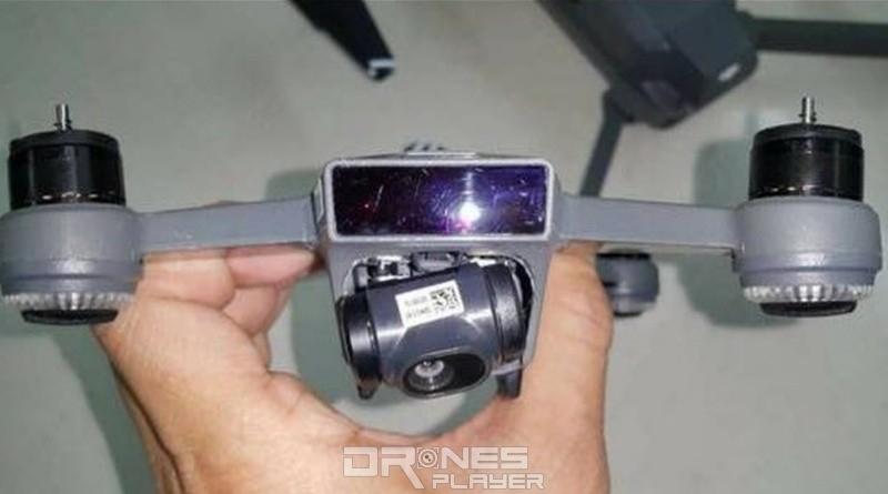 疑似 DJI Spark 航拍相機的上方部分,可能是紅外線感測器的所在。
