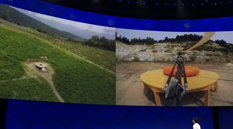 Facebook 研發 Tether-tenna 有線直升機