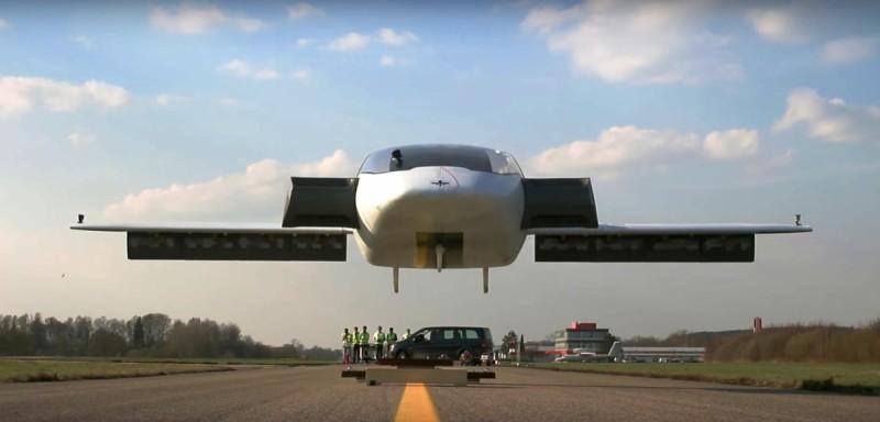 Lilium Jet 的 Eagle 原型機成功垂直起飛的一刻。