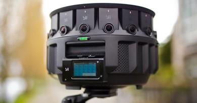 Google•小蟻合推 8K 環景攝影機 Yi Halo 16+1 部相機合體成形