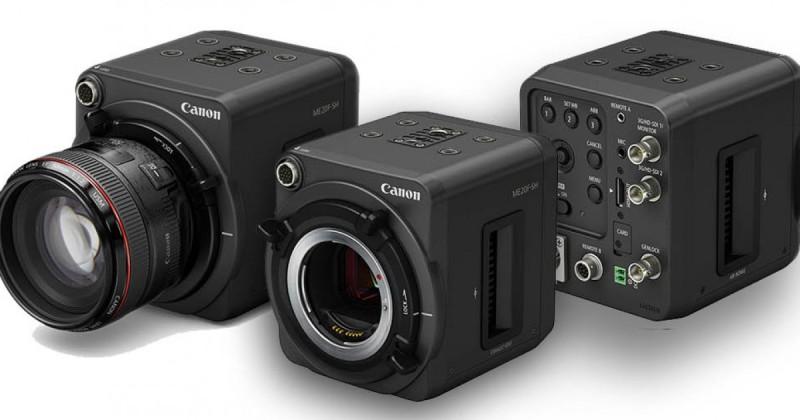 Canon 無人機會裝配 Canon ME20F-SH 攝影機,採用全片幅 CMOS 感光元件,可提供最高感光度 ISO 4,000,000。