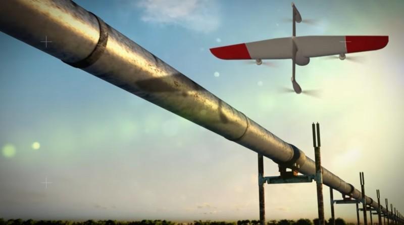 SkyOne 無人機的主要用途檢查輸油管道和天然氣輸氣管道,充飽電後可連續飛行約 100 公里。