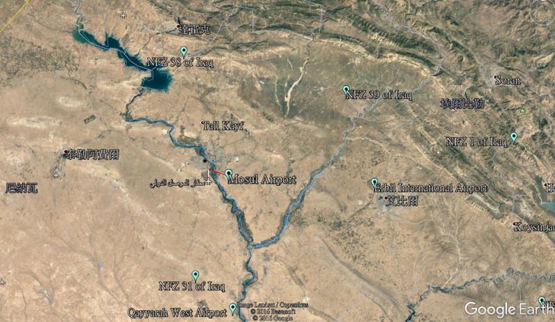 DJI 禁飛區 - 伊拉克北部城市摩蘇爾市