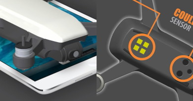 DJI Spark 新特色傳聞整理:無人機底部的金屬片是無線充電接位?