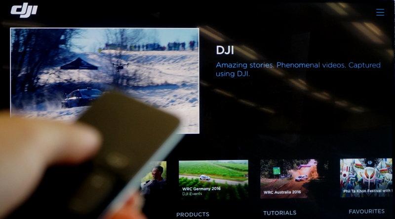 DJI Smart TV App 在 Apple TV