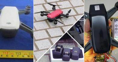 DJI Spark 發表前夕最新諜照:紅•白•黑三色無人機 無屏幕折疊遙控器