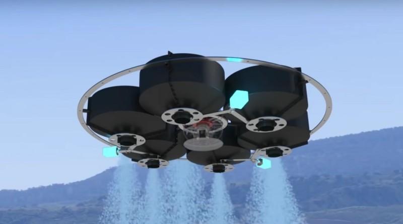 Drone Hopper 的噴射強度和水滴形狀均可經由磁力控制,施放出 3 種不同的噴灑形態。