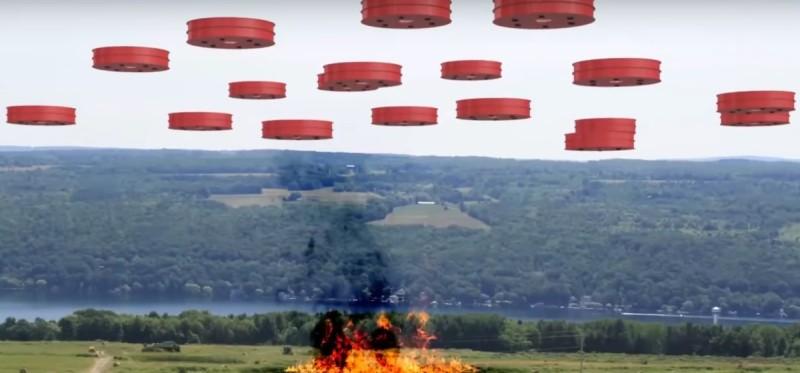 Drone Hopper 消防無人機更可用集群方式操作,以應付大範圍的火場。