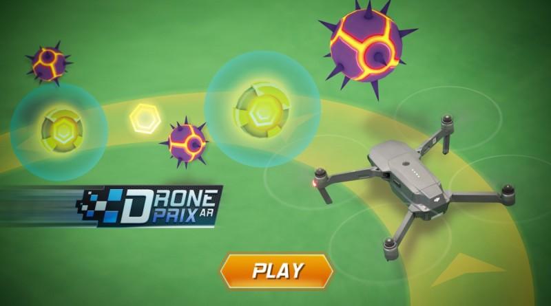飛友要操控 DJI Mavic Pro 穿越虛空中的擴增實境賽道,一面迴避障礙物,一面收集金幣和寶物。