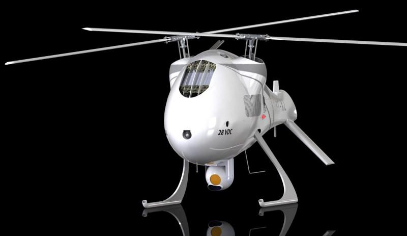 FT Sistemas 的無人直升機可應用於偵察、通訊、收集情報、監控等不同用途。