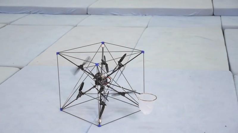 Omnicopter 接球示範 - 準備起飛