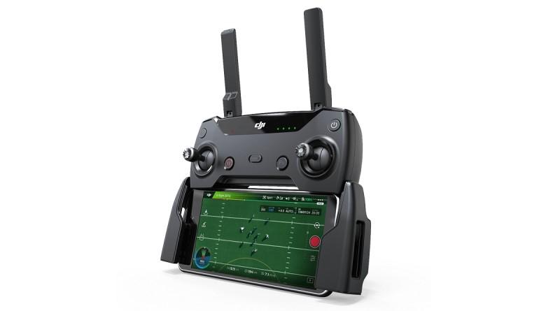 DJI Spark 遙控器形如 Mavic Pro 遙控器,但自身不設屏幕。