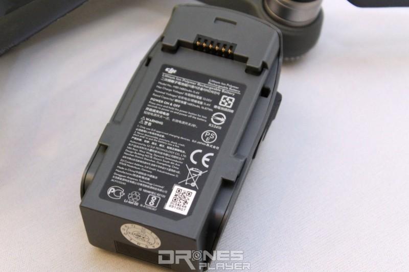 DJI Spark 無人機電池容量達 1480mAh,續航力達 16 分鐘。