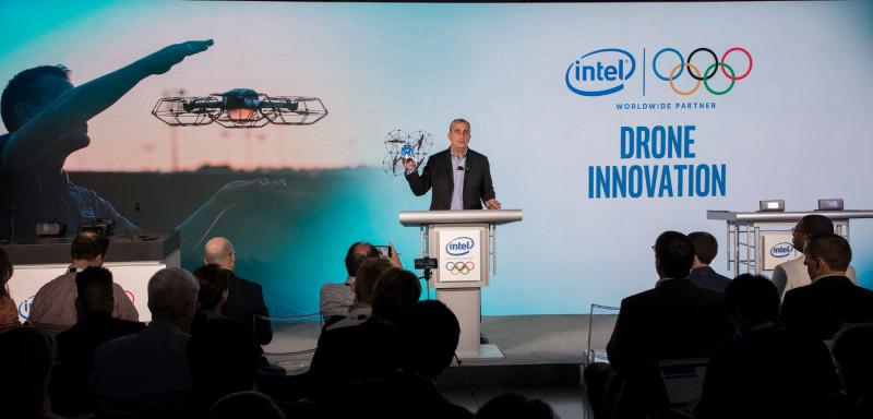 Intel 執行長 Brian Krzanich 出席奧林匹克委員會環球合作夥伴發表會