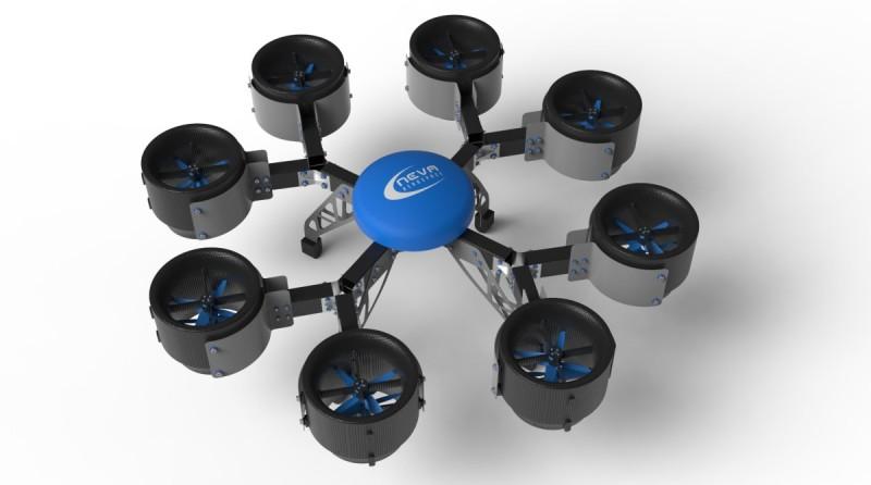 Neva Eole 無人機亦可裝配 8 組渦輪推進器,以應付不同的飛行需要。