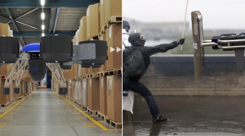 Neva Eole 無人機不但可管倉庫,還能鎮壓暴徒
