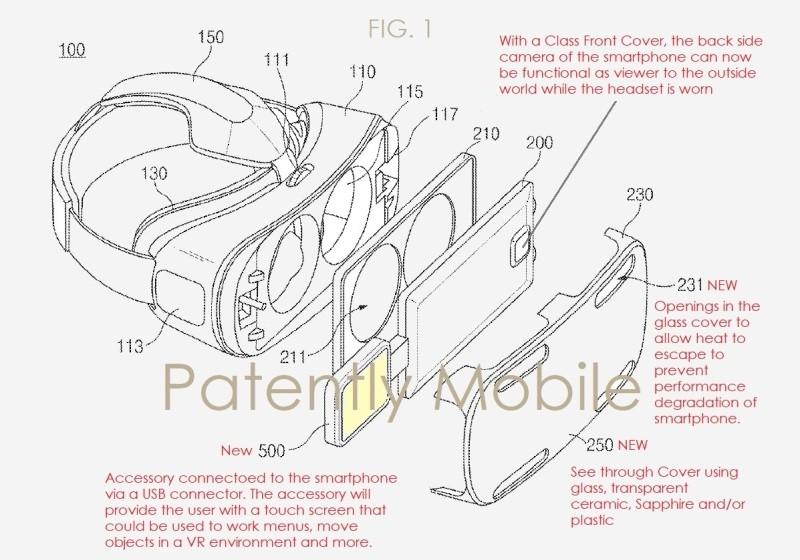 新一代 Gear VR 面板採用透明玻璃基板,可讓手機鏡頭直接拍攝周遭真實環境。