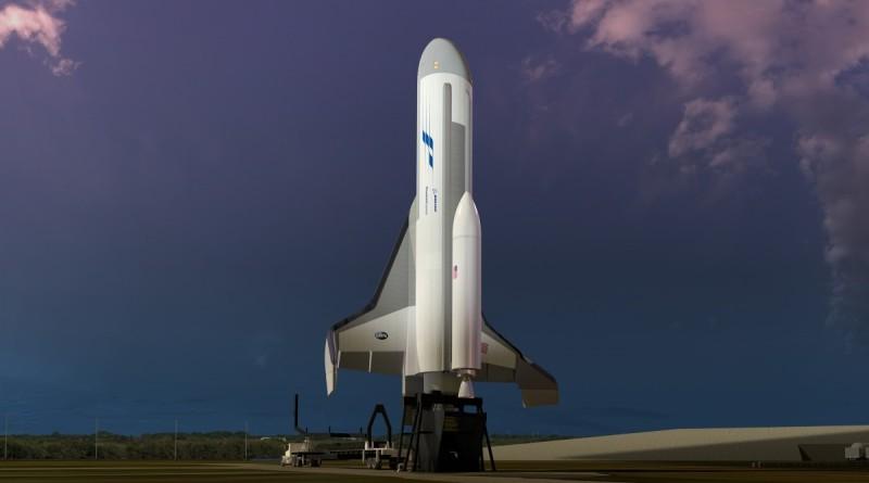 XS-1 實驗太空船起飛時像一般太空船般垂直升空,由液態氧和液態氫混合而成的低溫推進劑提供動力。