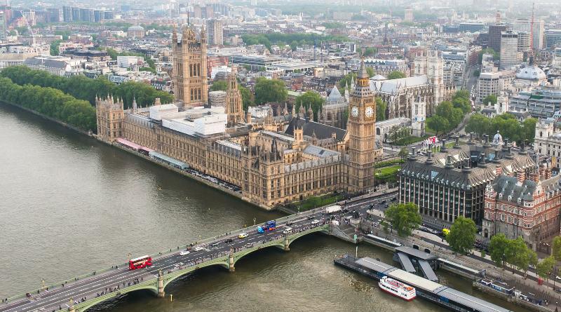英國倫敦大笨鐘空拍照