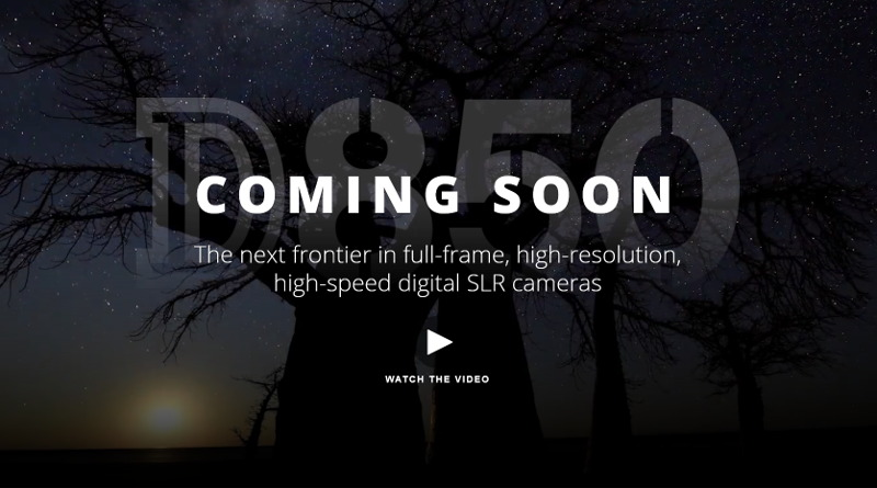 Nikon D850 不日推出(Nikon 網頁截圖)