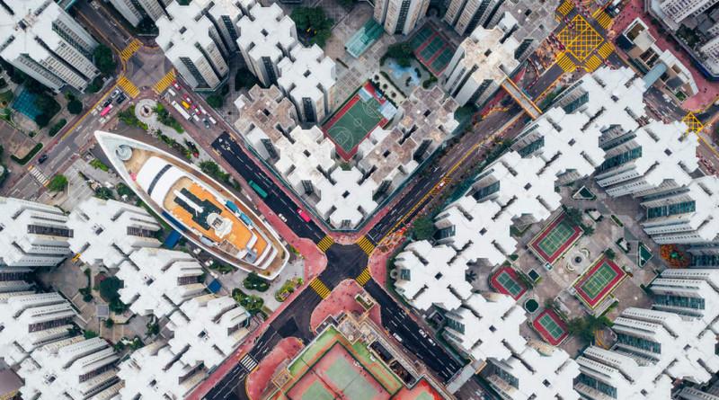 Andy Yeung 航拍作品《圍城 #8》獲得《國家地理》雜誌旅遊攝影師大賽亞軍
