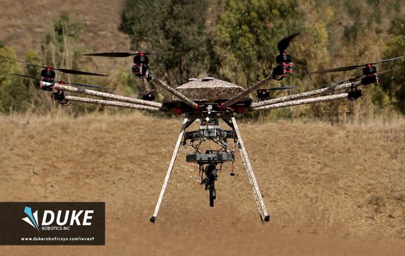 Duke Robotics - TIKAD 飛行中