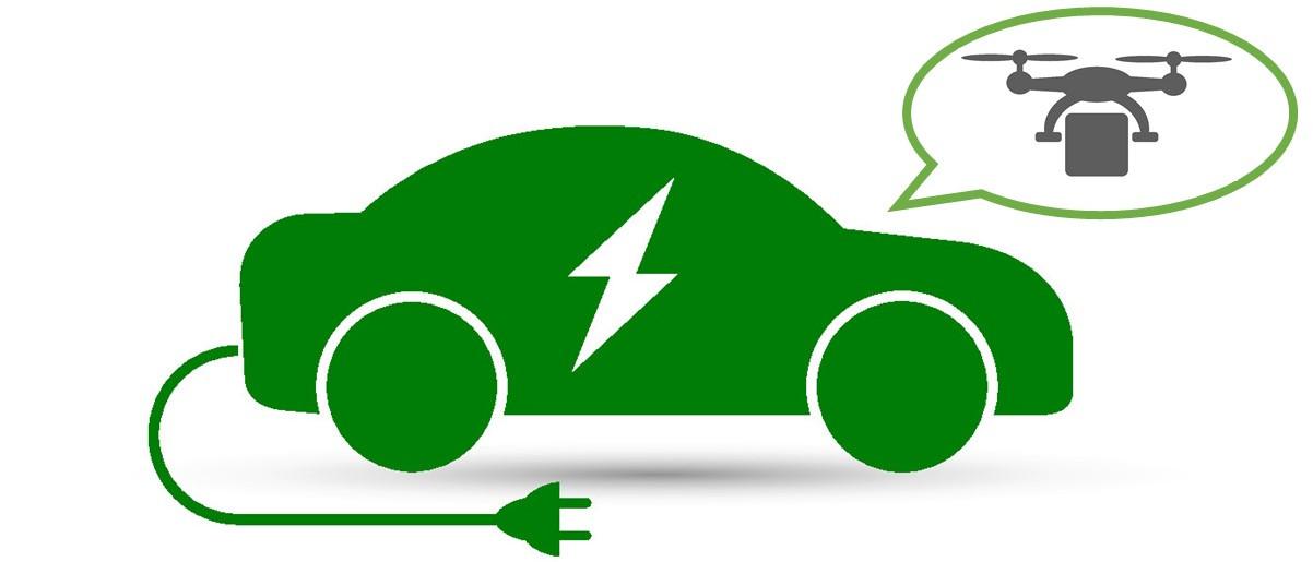 是無人機也是充電器? 亞馬遜新專利技術為電動車充電