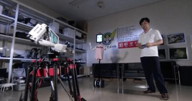 無人機 X 機械人 韓國教授打造Robot Drone Man 第二代曝光