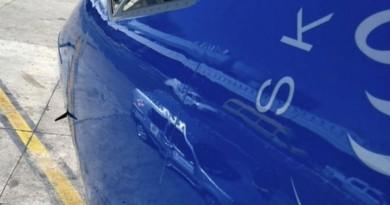 阿根廷無人機撼客機機頭 幸安全降落