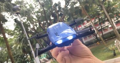 單手體感操控  JJRC H47 ELFIE+ 飛行、航拍畫質實測