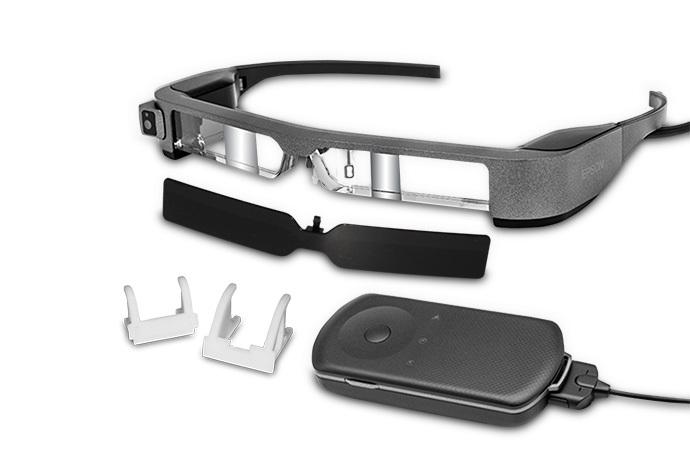 Moverio BT-300 FPV 智能眼鏡與一般眼鏡外形差別不大。