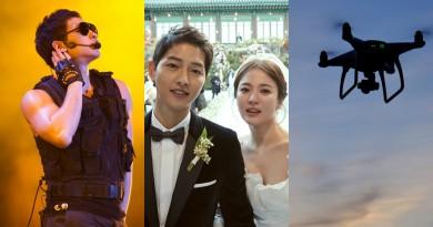 韓星槓上無人機! 雙宋婚禮被偷拍 Rain 在台拍攝團隊違規空拍