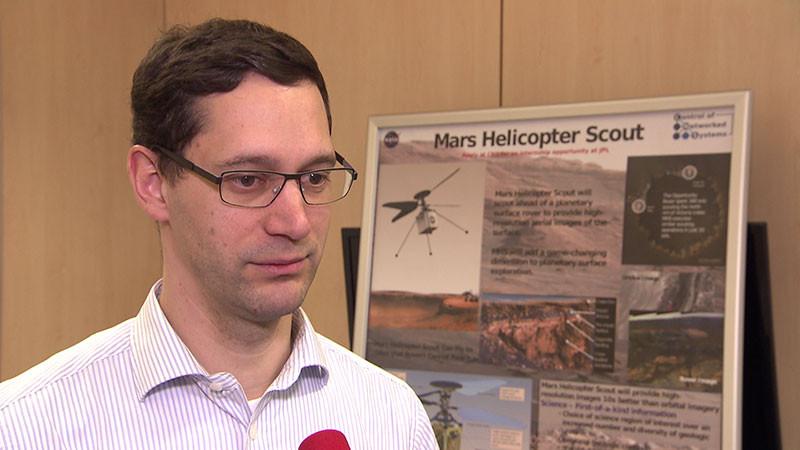 Stephan 相信無人機有助太空人進行火星探索任務。