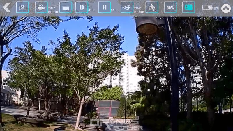 《JJRC Trakcer》App 介面,顯示 GPS 訊號、飛行高度及距離。