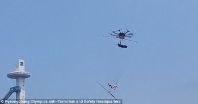 嚴陣防恐襲 冬奧部署無人機「撒網」反捕可疑飛行器